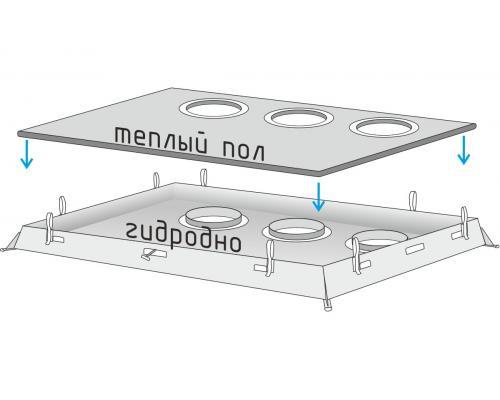 Дно гидро-термоизоляционное ЛОТОС Куб с отверстиями под лунки