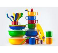 """Набор посуды для готового обеда на природе """"Приятного аппетита"""" на 4-8 персон в футляре-сумке"""