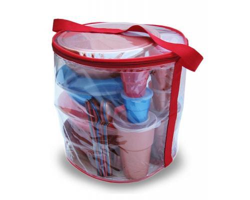 Набор посуды для рыбалки-3 на 4 персоны в футляре-сумке