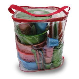 """Набор посуды для готового обеда на природе """"Все в одном-3"""" на 4 персоны в футляре-сумке"""
