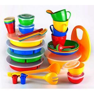 """Набор посуды для готового обеда на природе """"Приятного аппетита-2"""" на 4-8 персон в футляре-сумке"""