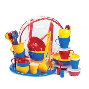 Набор посуды для приятного отдыха-4 на 6 персон в футляре-сумке