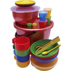 """Набор посуды для пикника на 4 персоны """"Пчелка"""" в футляре"""