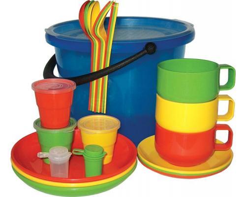 """Набор посуды для пикника на 3 персоны """"Пчелка"""" в футляре"""