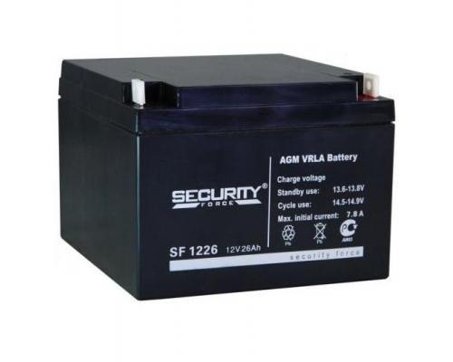 Аккумуляторная батарея Security Force SF 1226 (12V 26Ah)