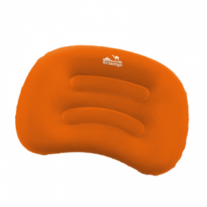 Подушка надувная под голову (дорожная) TRA-160 (оранжевый/серый) Tramp