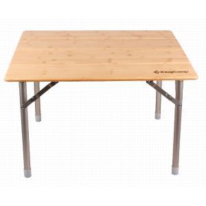 King Camp 2018 4-folding Bamboo table стол скл. Бамбук, алюм