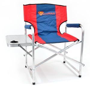 Кресло складное Кедр SuperMax Алюминий со столиком с подстаканником