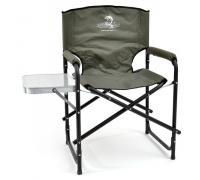Кресло складное Кедр Сталь со столиком (пластик)