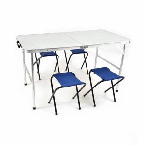 Стол раскладной Кедр влагозащищенный 60х120см и 4 табурета