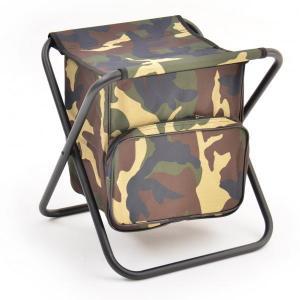Табурет складной Кедр Средний Сталь (рамка в рамку) с сумкой