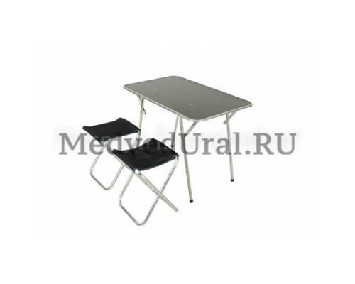 Набор туристической мебели (стол + 2 стула) Медведь