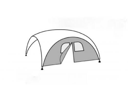 Ветрозащитная стенка с окнами и молнией для шатра FHM Event