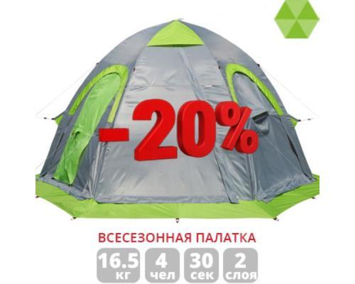 Всесезонная универсальная палатка ЛОТОС 5У с утепленным тентом